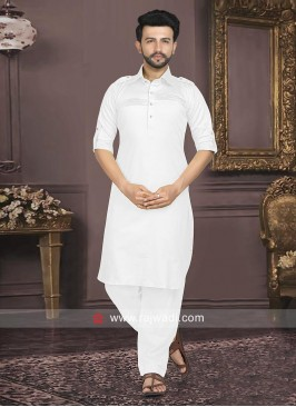 Cotton Silk Pathani Suit