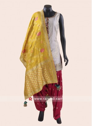 Cotton Silk Patiala Salwar Kameez