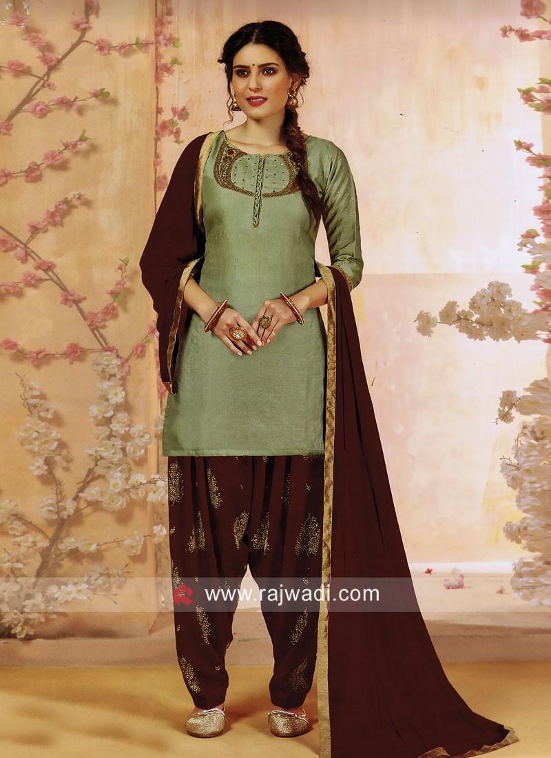 Cotton Silk Patiala Salwar Kameez