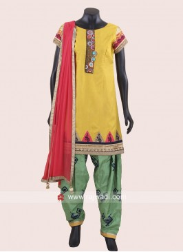 Cotton Silk Patiala Suit