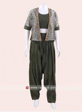 Cotton Silk Patiala Suit with Koti