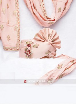 Cotton Silk Pink Wedding Safa