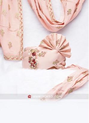 Cotton Silk Pink Wedding Safa