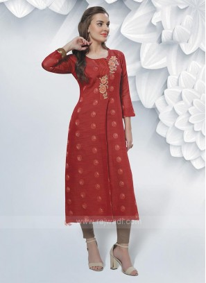 Cotton Silk Printed Kurti