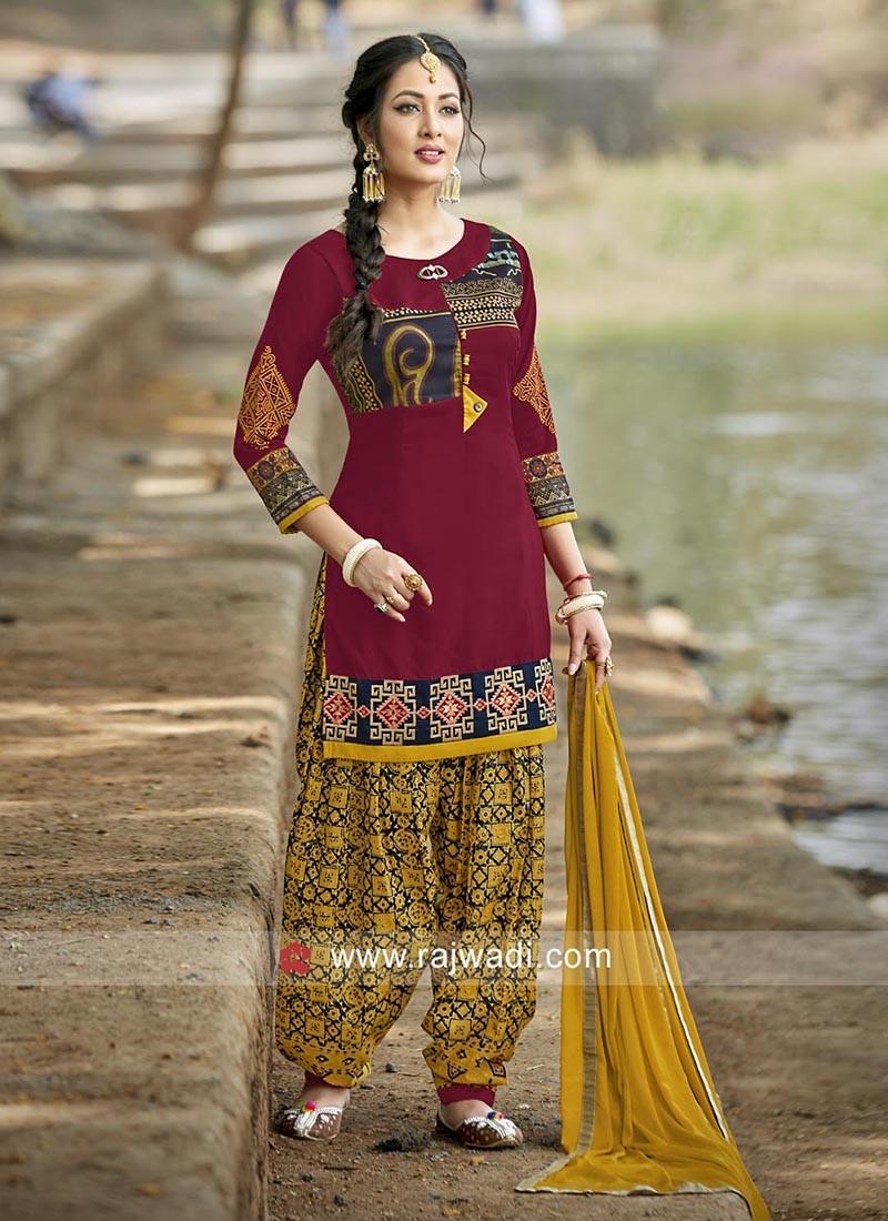 Cotton Silk Printed Salwar Kameez