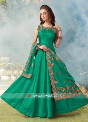 Cotton Silk Readymade Anarkali Suit