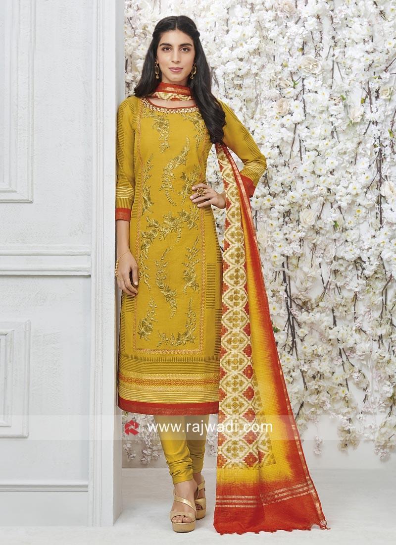 Cotton Silk Readymade Salwar Kameez