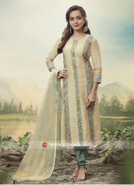 Cotton Silk Resham Work Salwar Suit