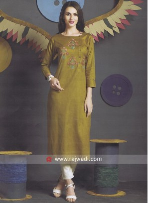 Cotton Silk Round Neck Kurti
