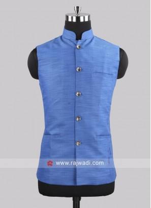 Cotton Silk Royal Blue Koti