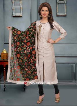 Cotton Silk Salwar Suit with Designer Dupatta