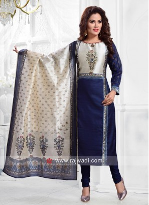 Cotton Silk Salwar Suit with Dupatta