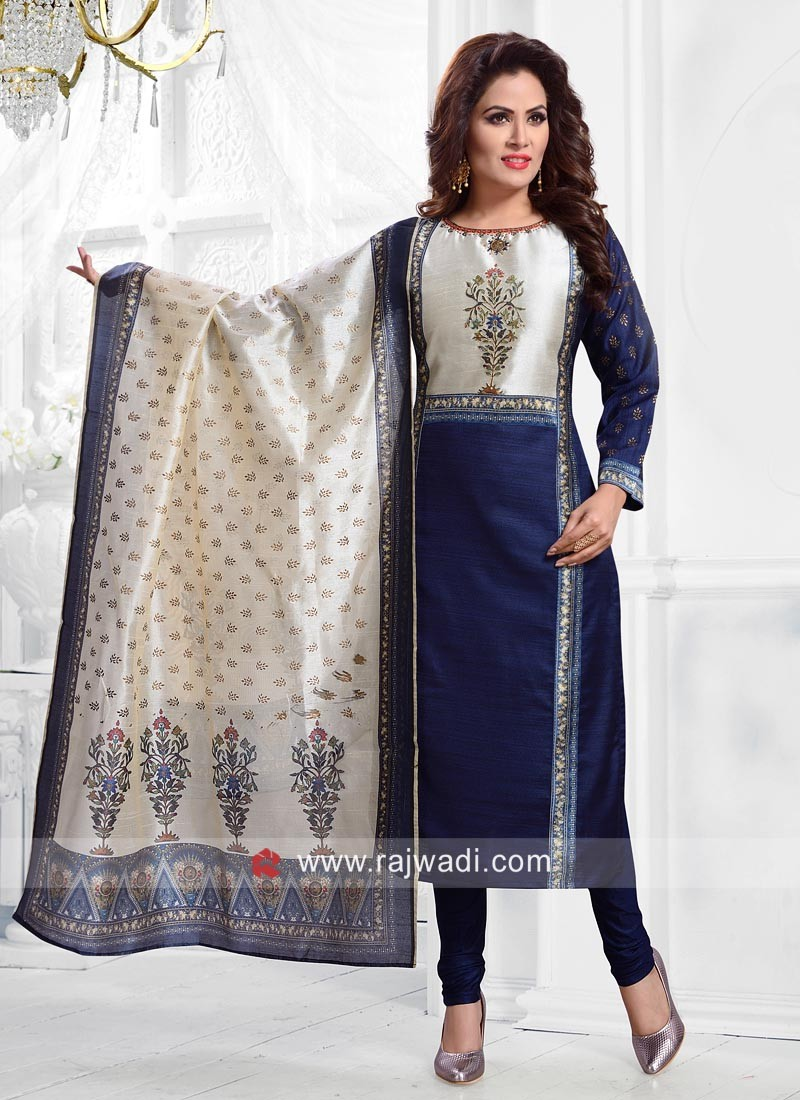Cotton Silk Salwar Suit with Dupatta