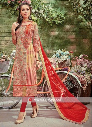 Cotton Silk Staright Fit Salwar Kameez