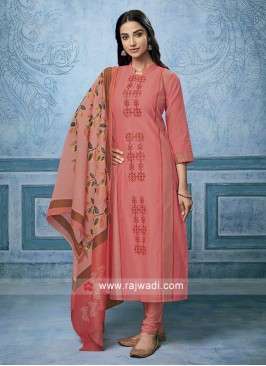 Cotton silk Stitched Salwar Kameez