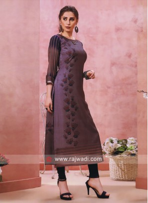 Cotton Silk Straight Fit Long Kurti