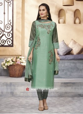 Cotton Silk Straight Fit Salwar Kameez