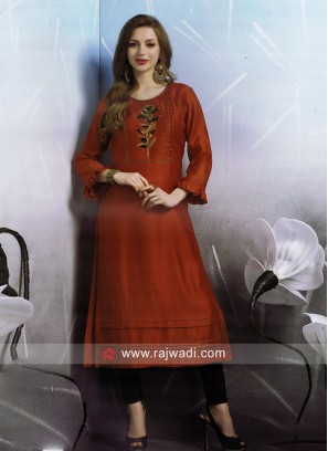 Dressline Cotton Silk Thread Work Kurti