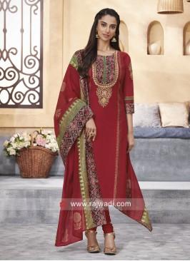 Cotton Silk Thread Work Salwar Kameez