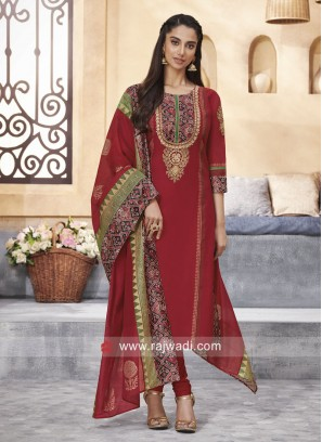 Cotton Silk Thread Work Salwar Kameez
