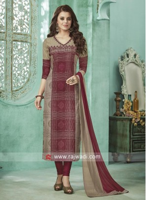 Cotton Silk Thread Work Salwar Suit