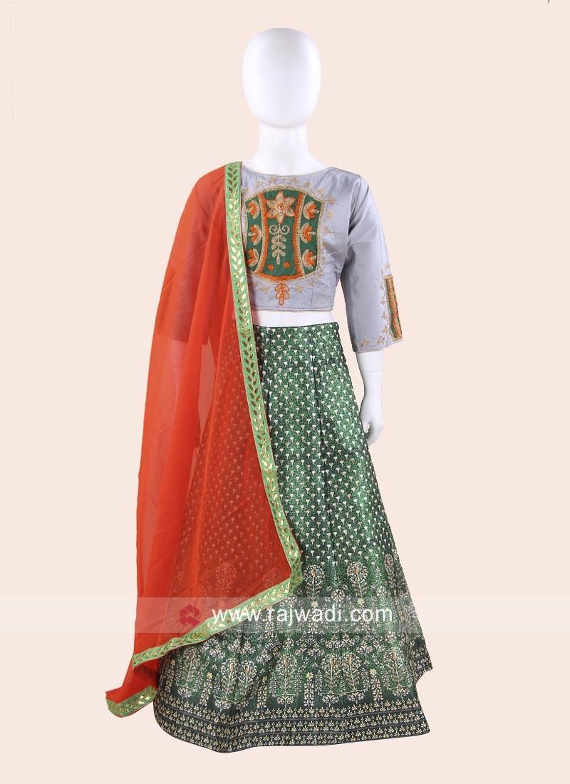 Cotton Silk Traditional Chaniya Choli for Kids