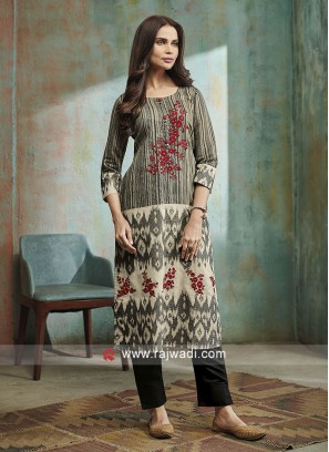 Shagufta Cotton Silk Trouser Salwar Suit