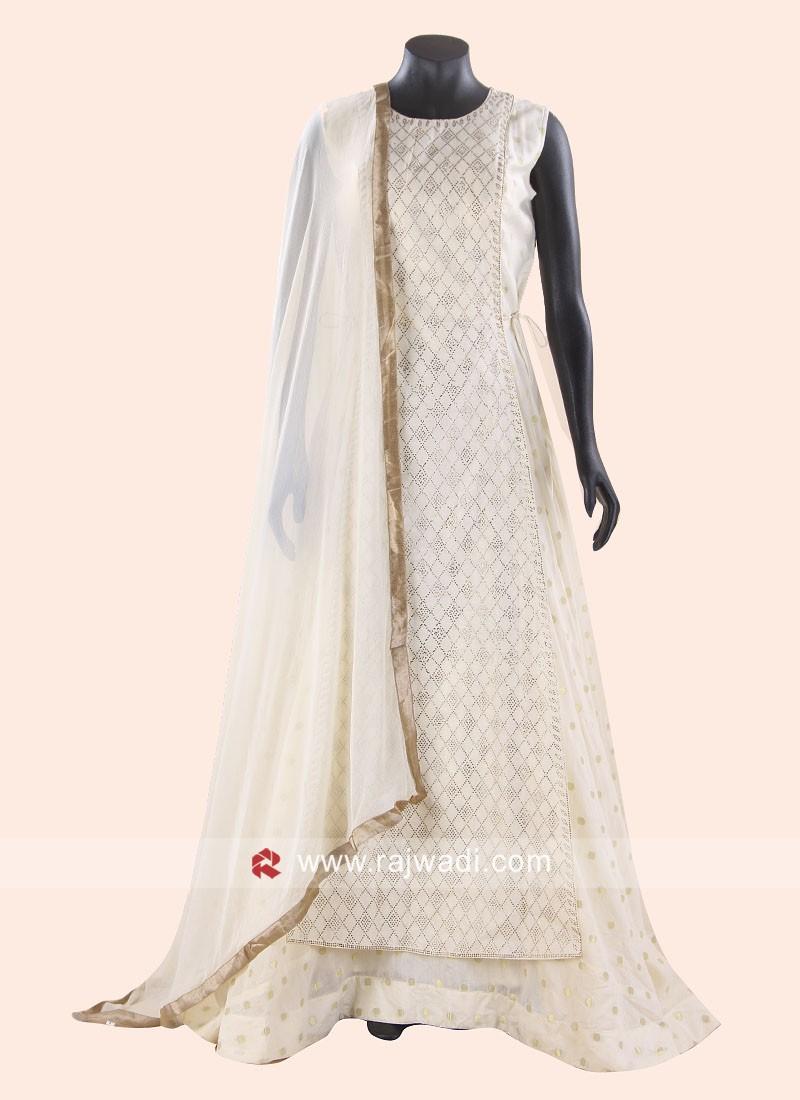 Cotton Silk Wedding Anarkali Salwar Kameez