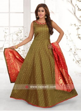 Cotton Silk Wedding Anarkali Suit