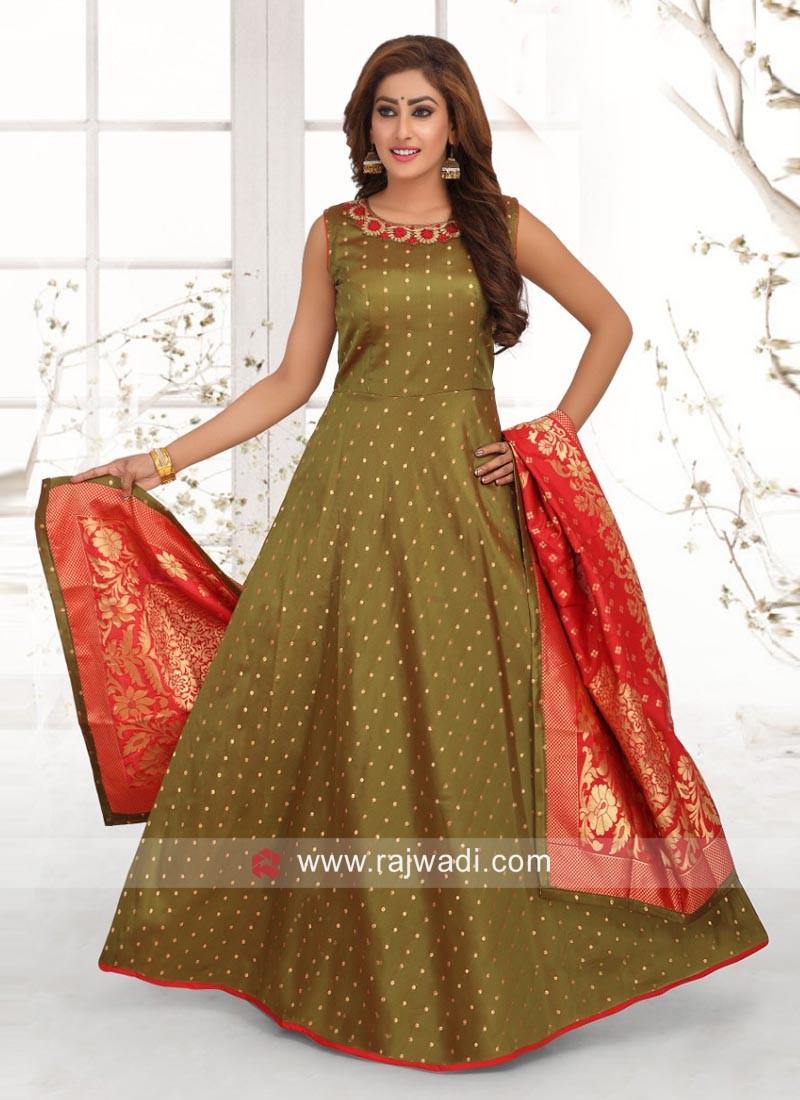 Cotton Silk Wedding Anarkali Suit