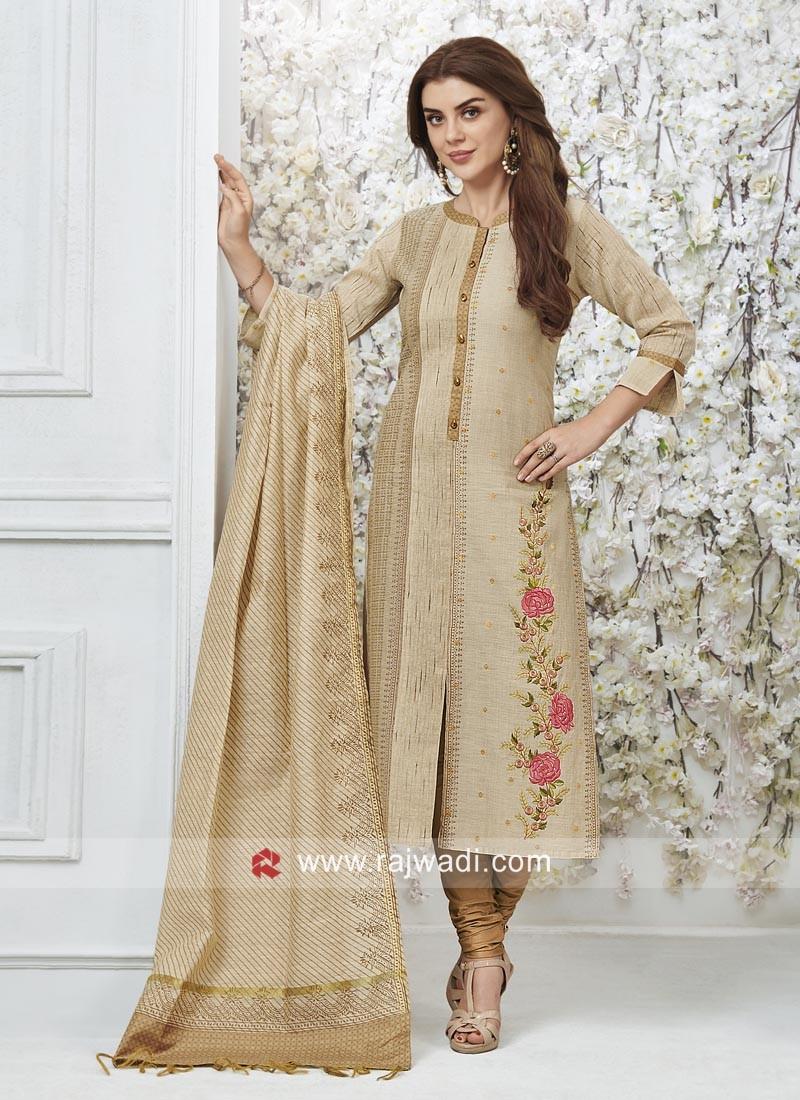 Cotton silk Wedding Salwar Suit