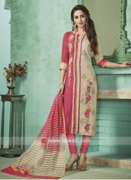 Cotton Silk Zari Work Salwar Kameez