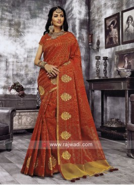 Cotton Silk Zari Work Saree