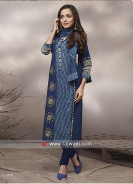 Cotton Straight Fit Printed Salwar Suit