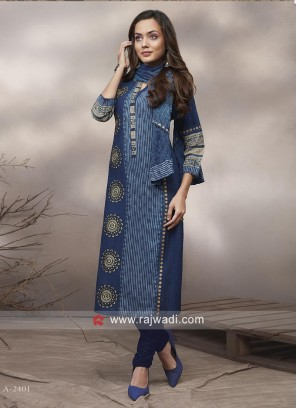 Shagufta Cotton Straight Fit Printed Salwar Suit