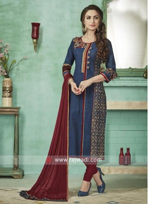 Cotton Straight Fit Salwar Suit
