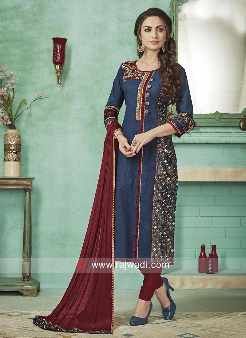 Cotton Straight Fit Salwar Suit