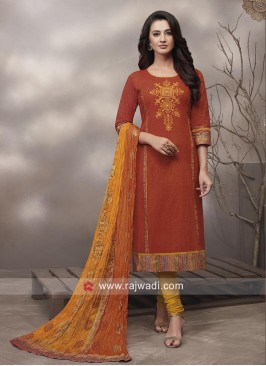 Cotton Straight Salwar Kameez
