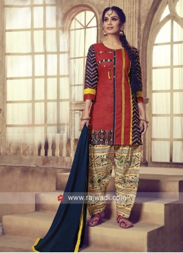 Cotton Summer Wear Patiala Suit