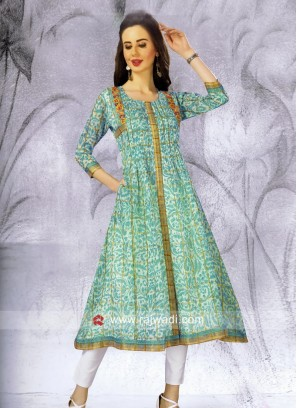 Cotton Summer Wear Semi Anarkali Kurti
