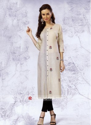 Cotton Thread Work Kurti