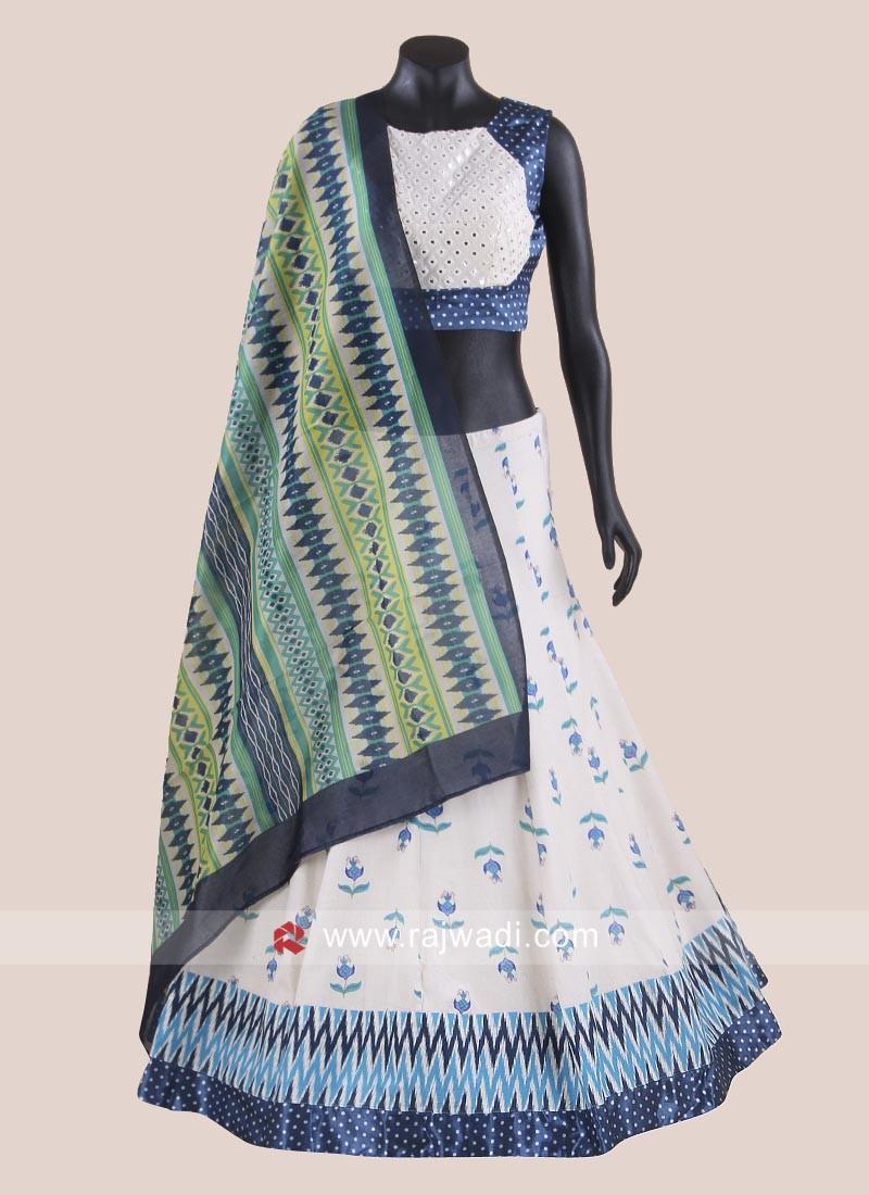 Cotton Zari Work Chaniya Choli