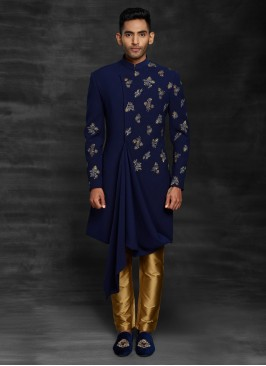 Cowl Style Indowestern For Wedding
