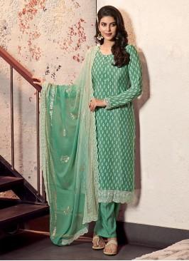 Crepe Silk Printed Dress Material