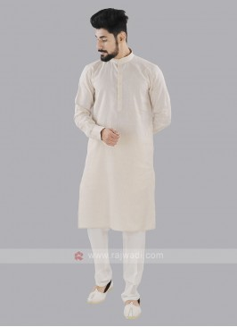 Cream And Off White Kurta Set
