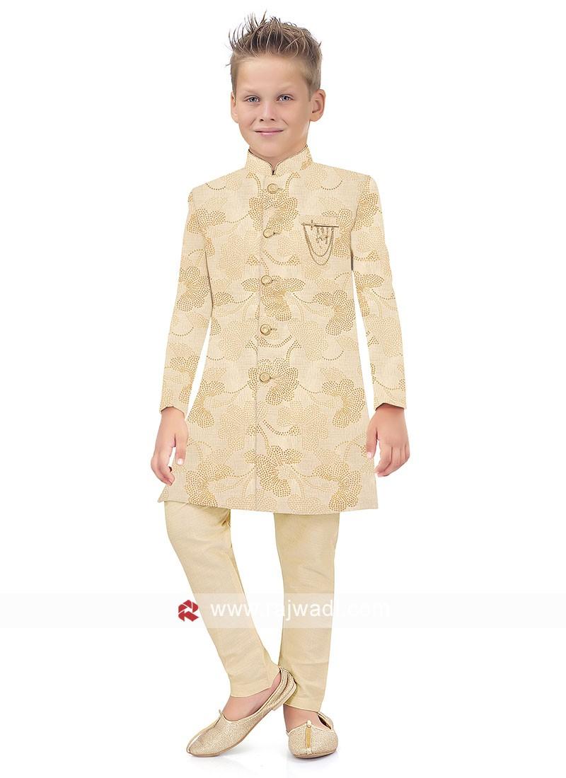 Cream Color Indo Western for Boys