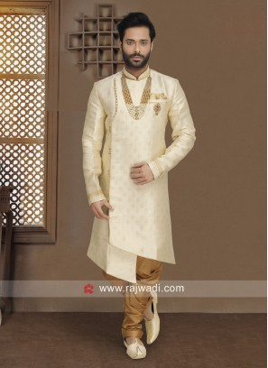 Cream Color Indo Western For Wedding