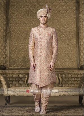 Cream Color Indo Western For Wedding