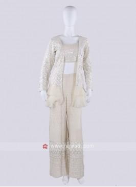 Cream Color Koti Style Palazzo Suit