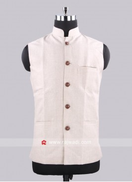 Cream Color Koti With Fancy Buttons